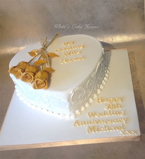 Wedding Anniversary Golden by Anniversary White S Cake House