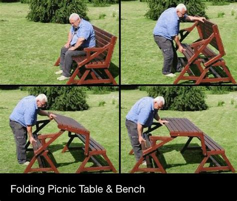 how to build picnic table bench diy folding wooden picnic table quick woodworking projects