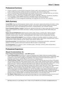 Resume Exle Summary by Customer Service Resume Summary Jvwithmenow