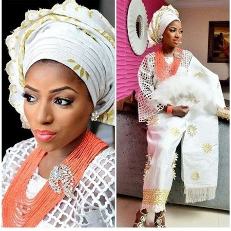 aso oke and lace attires for yoruba traditional weddings 100 ideas to try about gold and white aso oke