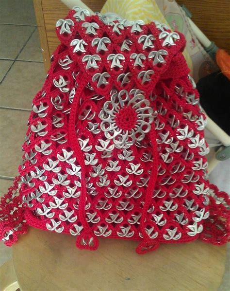 bolsas tejidas con fichas bolso con anillas bolsas de anillas pinterest