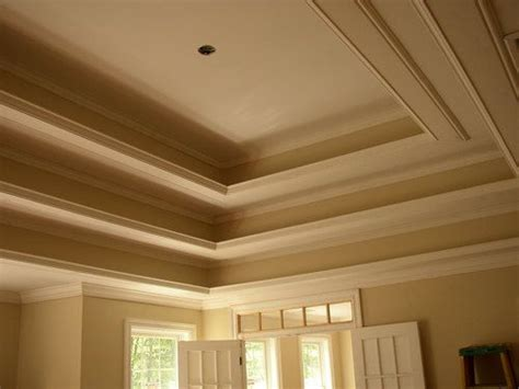 Tray Ceilings Images by Master Bedroom Tray Ceiling With Crown Moulding