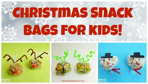 christmas snowman snack bags for class parties at school