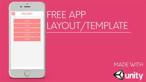 Free App Template Layout Unity3d Youtube How To Create An App Template