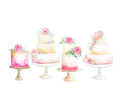 Bakery Kitchen Design by Watercolor Cake Illustration 187 Halftone Studio