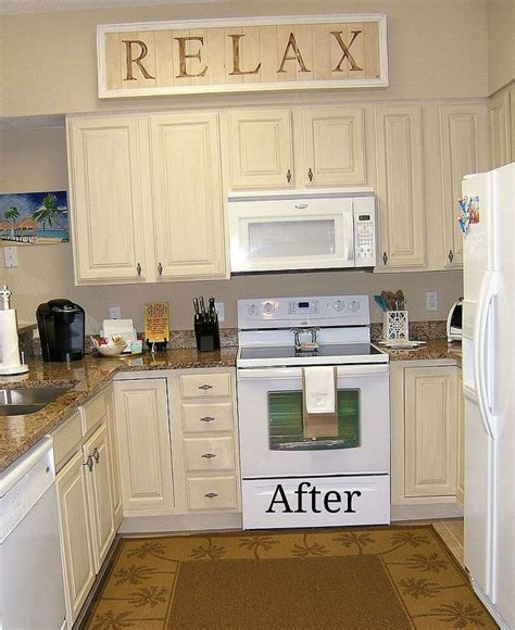 kitchen cabinet remake pickled to beachy hometalk