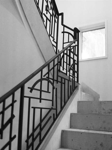 Stairwell Banister Stairs Amusing Wrought Iron Handrails Astonishing