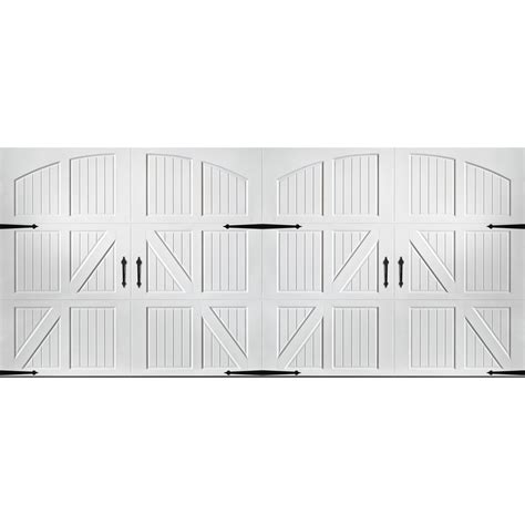 16 Foot Garage Door by Shop Pella Carriage House 16 Ft X 7 Ft White Garage