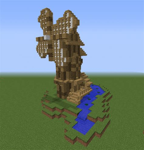Medieval Windmill Watermill - GrabCraft - Your number one ... Minecraft Windmill Farm