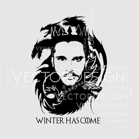 game  thrones svg jon snow winter graphics