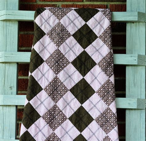Argyle Quilt Pattern Free by Quilted Baby Quilt Pink And Brown Argyle Nursery