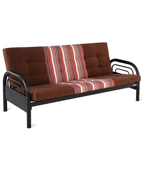 steel sofa come bed price nilkamal hamilton metal sofa cum bed balck available at
