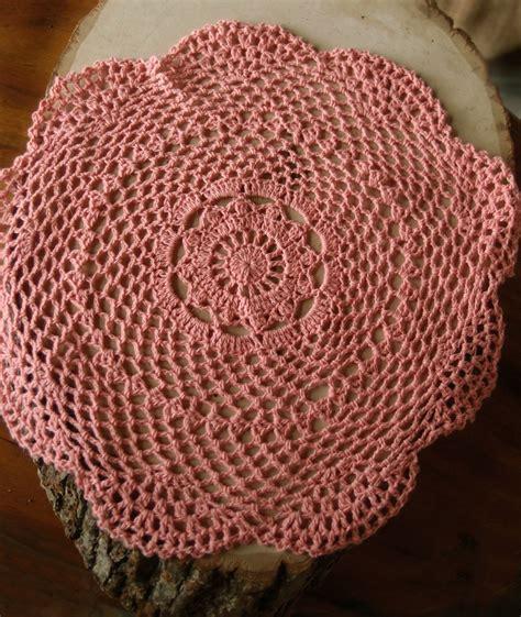 Handmade Doilies - 12 quot shaped handmade cotton crochet doilies roseate