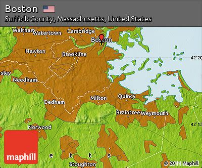 massachusetts physical map free physical map of boston