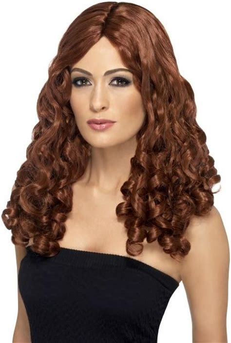 spiral curls toward the face period ladies long curly wig fancy dress with spiral curls film
