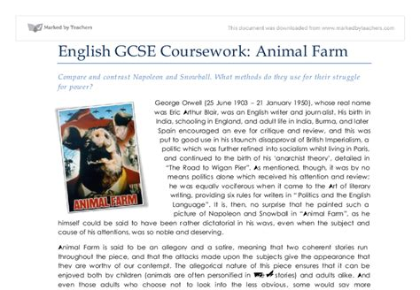 Napoleon Animal Farm Essay by Changing Your Animal Farm Essay Snowball And Napoleon Writing Essays Gcse Exams