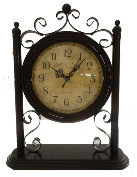 Decorative Desk Clock cheungs home kitchen decorative display metal table clock traditional desk and mantel clocks