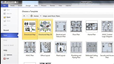 visio template getting started with visio 01 the right template