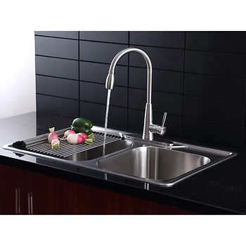 Stainless Steel Pull Out Kitchen Faucet Faucets Costco