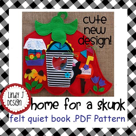 quiet book pattern pdf home for a skunk quiet book pdf pattern
