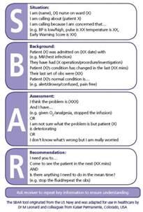 sbar template word nicky lambert on quot sbar power communication