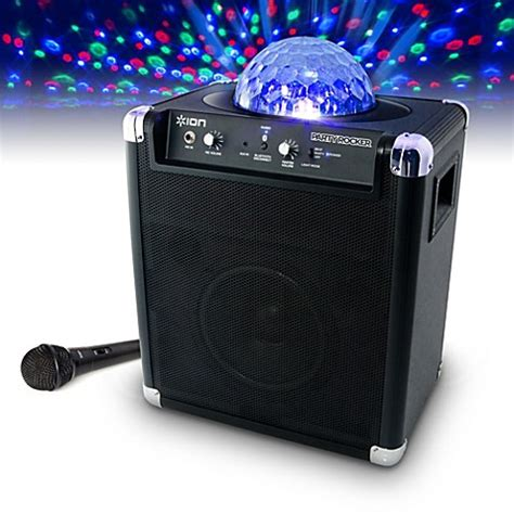 ion portable speaker system with lights ion rocker portable speaker system with built in