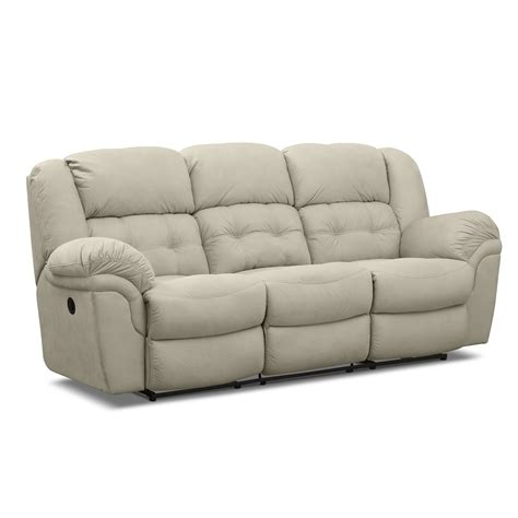 power reclining sofa lancer beige ii upholstery power reclining sofa value