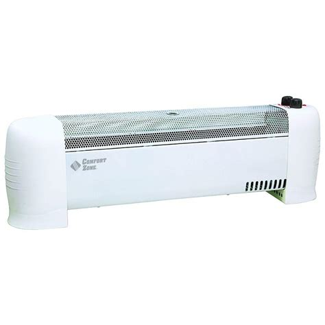 electric baseboard heaters for homes comfort zone 1500 watt electric baseboard heater cz600