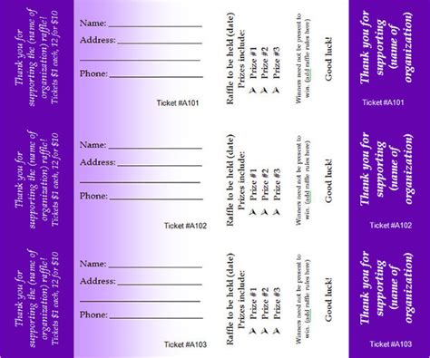 printable raffle ticket template 34 raffle ticket template free word pdf psd doc