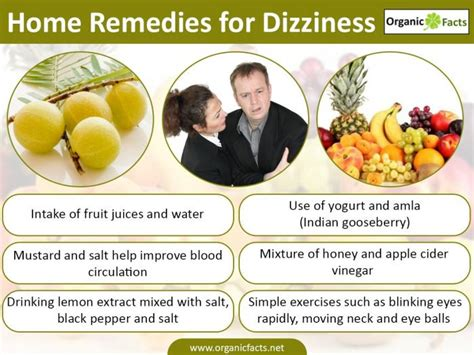 home remedies for dizziness organic facts
