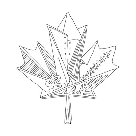 canadian leaf coloring page 167 best canadian maple leaf colouring pages images on