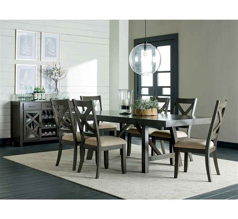 dallas grey  pc dining group badcock  grey dining tables dining room furniture furniture