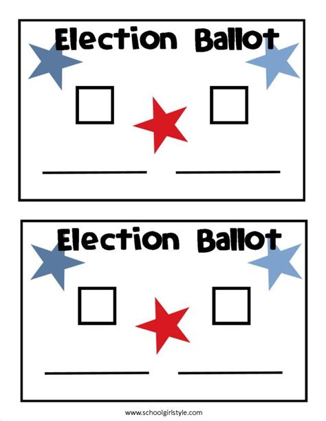 free voting ballot template election ballot template free printable