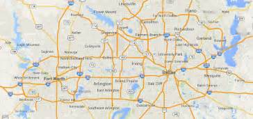 map dallas fort worth