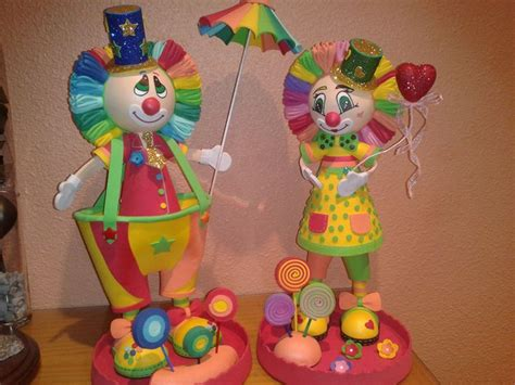 pin dulceros payaso on pinterest estos son pap 225 y mam 225 payaso fofuchas pinterest
