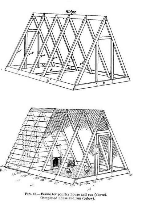 a frame house plans free free chicken coop plans for ark and run for 12 chickens with diagrams