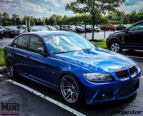 Bmw E90 blue e90 bmw 335i shines on forgestar f14s
