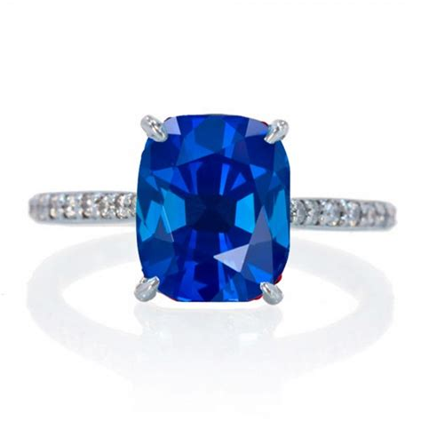 celebrity engagement rings sapphire 2 25 carat cushion cut sapphire and diamond celebrity