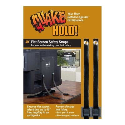 quakehold   flat screen tv strap   home depot