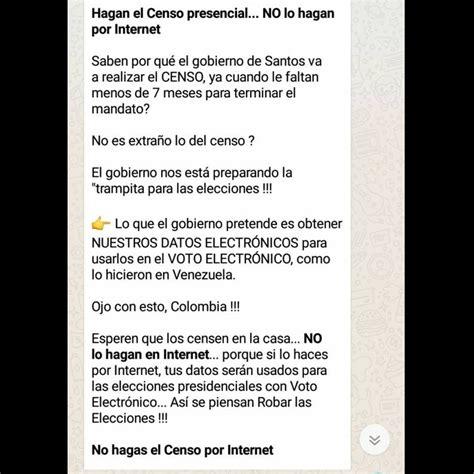 cadenas de whatsapp de preguntas 2018 161 atenci 211 n se difunde cadena falsa sobre el censo 2018 en