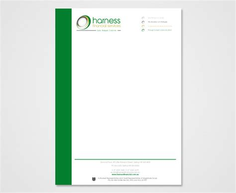 Financial Letterhead Corporate Stationary Identity And Branding Design Portfolio Brisbane Oneout Creative