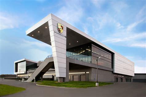 Porsche Atlanta by Porsche S New Us Headquarters Has A Race Track In The Back