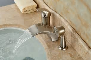 Waterfall Faucet For Tub Brushed Nickel Roman Waterfall Spout Tub Faucet Bathroom
