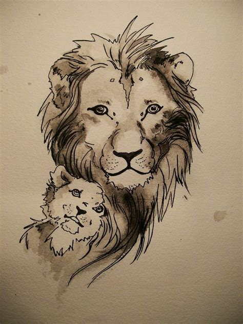 lion and cub tattoo tattoos permanent