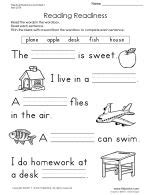 Reading Readiness Worksheets by Thumbnail Of Reading Readiness Worksheet 1 Tons Of Handwriting And Printing Practice Worksheets