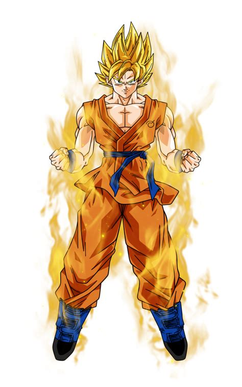 goku saiyan aura by bardocksonic on deviantart