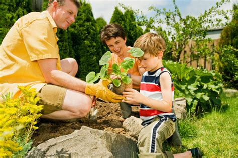 family gardening the right age for and yard work