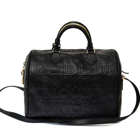 Lv Single Bag New Edition 036 louis vuitton limited edition black embossed leather