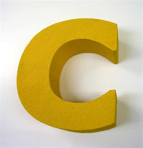 c com 3d letters made from styrofoam 3d letters