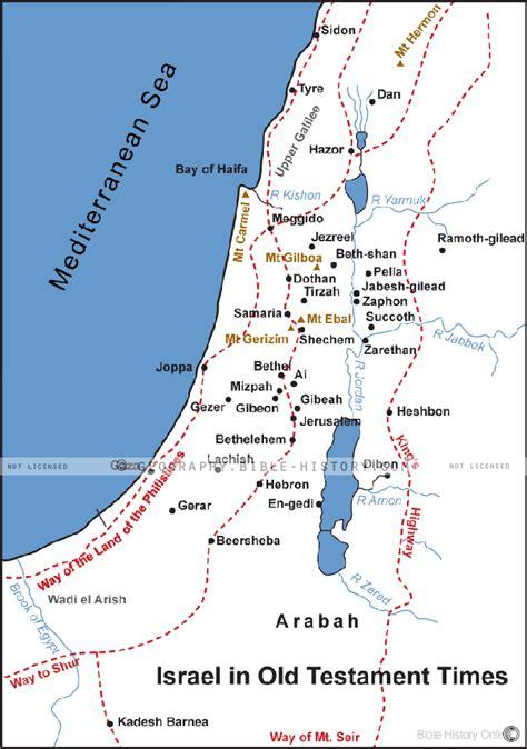 israel   testament times bible maps